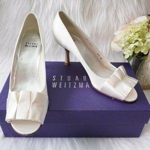 🆕Stuart Weitzman Bridal Peep Toe Ruffles Heel